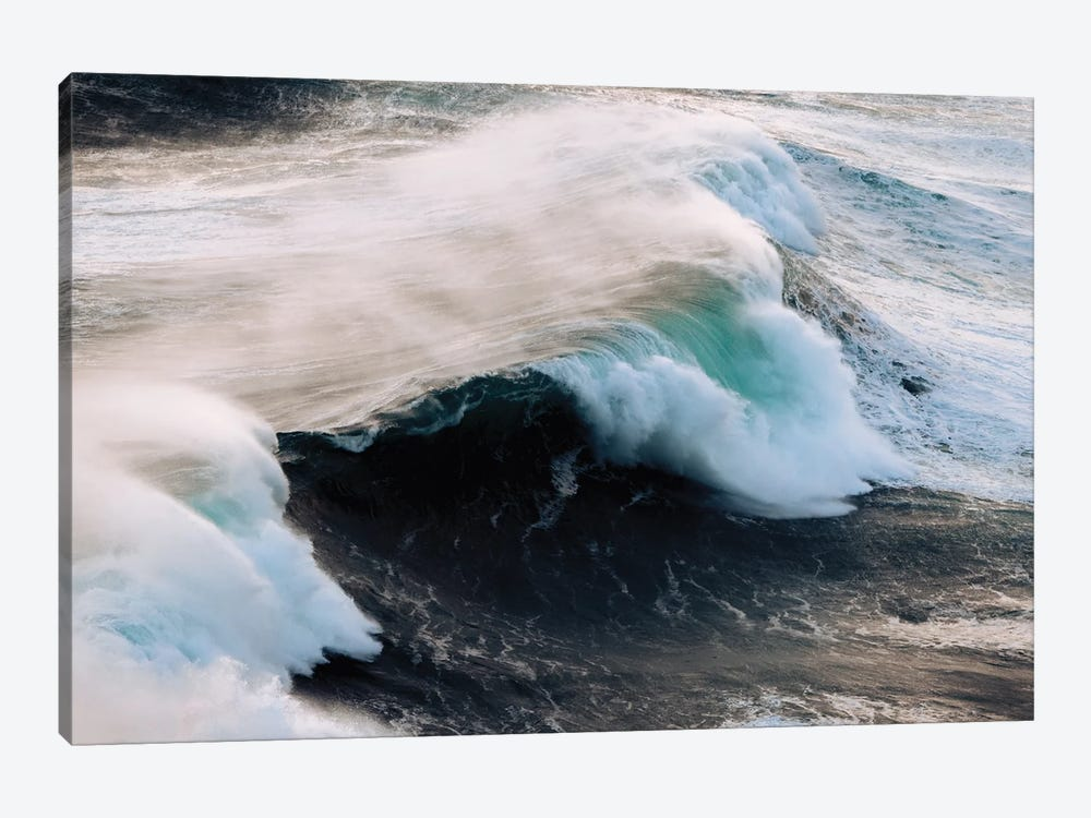 Powerful Wave Breaking In Nazare During Sunset by Michael Schauer 1-piece Canvas Artwork