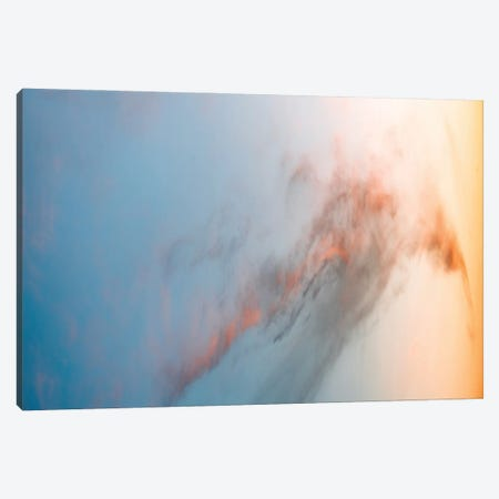 Beautiful Cloud Illuminated By A Warm Sunset Canvas Print #SCE184} by Michael Schauer Canvas Wall Art
