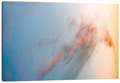 Beautiful Cloud Illuminated By A Warm Sunset Canvas Art Print