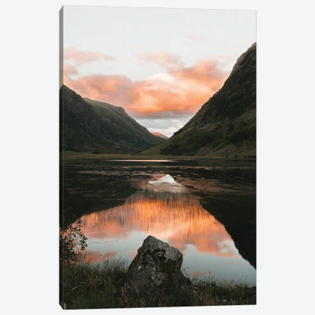 Perfect Reflection In A Mountain Lake In Scotland Canvas Print #SCE38} by Michael Schauer Canvas Art Print