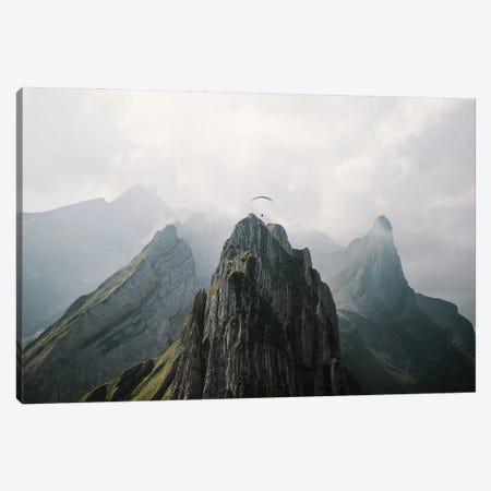Flying Mountain Explorer In Switzerland Canvas Print #SCE50} by Michael Schauer Canvas Print