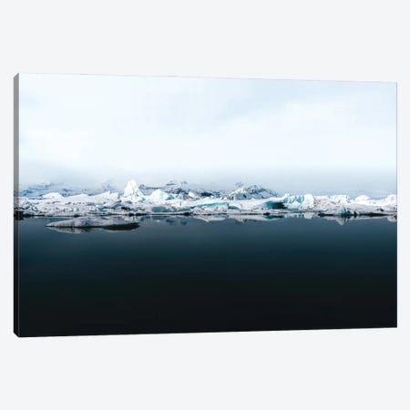 Ethereal Iceland Glacier Lagoon On A Calm Lake With Perfect Reflection Canvas Print #SCE66} by Michael Schauer Canvas Print