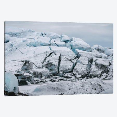 Frozen Glacier In Iceland Canvas Print #SCE67} by Michael Schauer Art Print