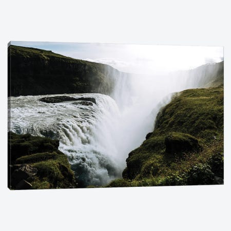 Gullfoss Waterfall In Iceland Canvas Print #SCE87} by Michael Schauer Canvas Print