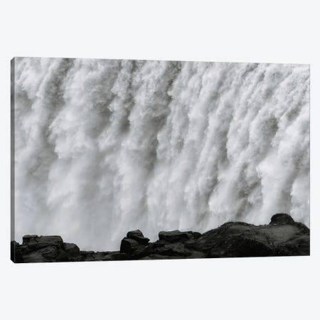 Roaring Dettifoss Waterfall In Iceland - Black And White Canvas Print #SCE93} by Michael Schauer Canvas Art Print