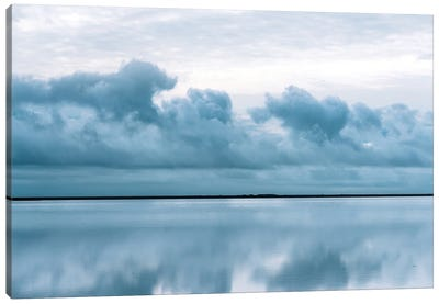 Epic Perfect Sky Reflection In Iceland Canvas Art Print