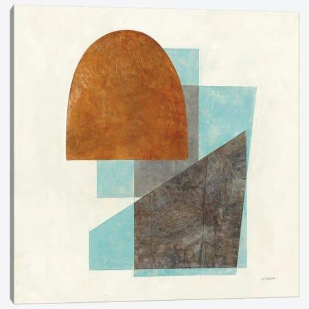 Quintet I Turquoise Canvas Print #SCH91} by Mike Schick Canvas Artwork