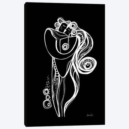 Embrace Black Canvas Print #SCI103} by Soul Curry Art & Illustrations Canvas Print