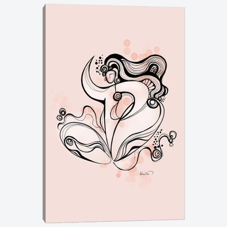 Seated Lotus Canvas Print #SCI106} by Soul Curry Art & Illustrations Canvas Wall Art