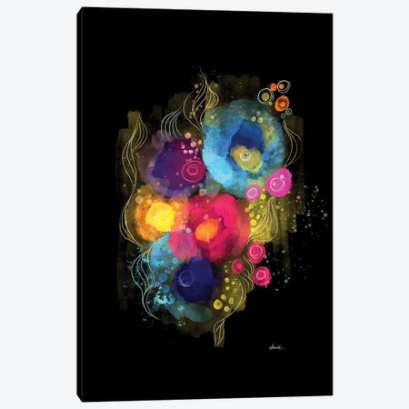 Rainbows In The Garden Canvas Print #SCI133} by Soul Curry Art & Illustrations Canvas Art
