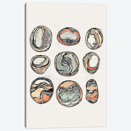 9 Rocks Canvas Print #SCI1} by Soul Curry Art & Illustrations Canvas Artwork