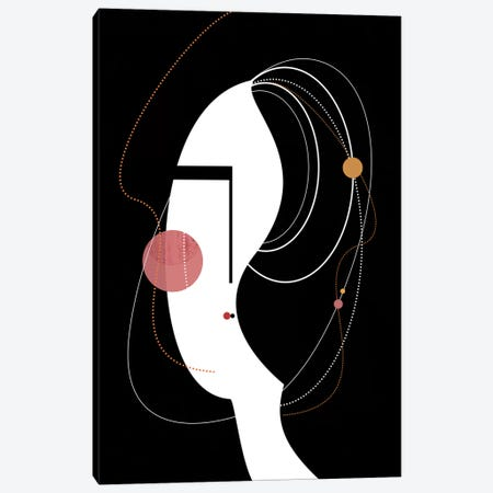 Graphic Girl Canvas Print #SCI22} by Soul Curry Art & Illustrations Canvas Artwork