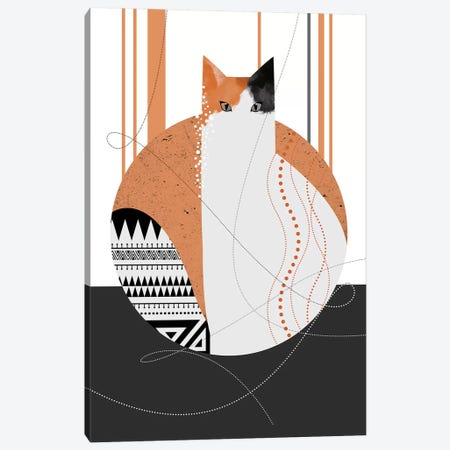 Lily Cat Canvas Print #SCI24} by Soul Curry Art & Illustrations Canvas Print