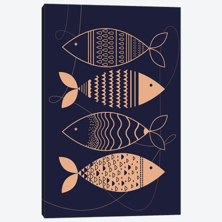 Matsya 3-Piece Canvas #SCI25} by Soul Curry Art & Illustrations Art Print