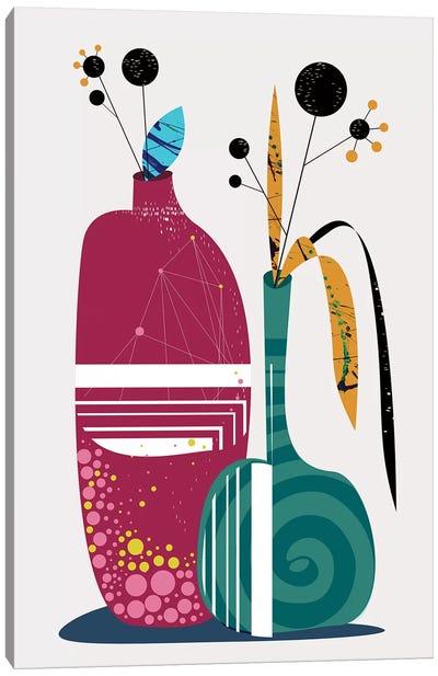 Mid-Mod Flower Pot Canvas Art Print