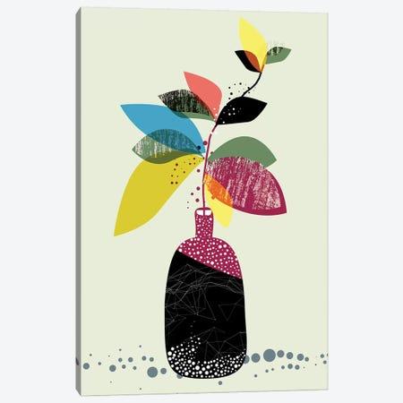 Mid-Mod Foliage Pot Canvas Print #SCI28} by Soul Curry Art & Illustrations Canvas Art