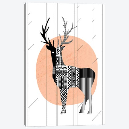Nordic Deer Canvas Print #SCI30} by Soul Curry Art & Illustrations Canvas Print