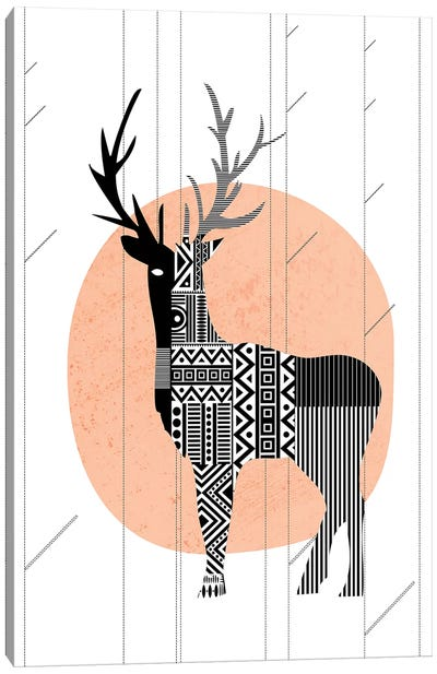 Nordic Deer Canvas Art Print