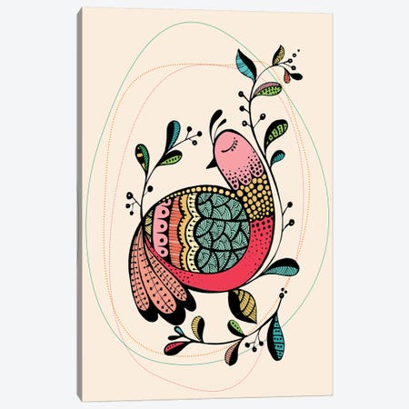 Partridge Canvas Print #SCI32} by Soul Curry Art & Illustrations Canvas Print