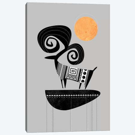 Ram Canvas Print #SCI35} by Soul Curry Art & Illustrations Canvas Wall Art