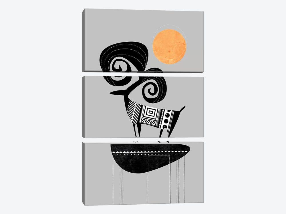 Ram by Soul Curry Art & Illustrations 3-piece Canvas Art
