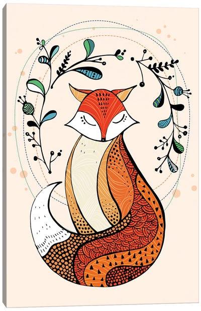 Snow Fox Canvas Art Print