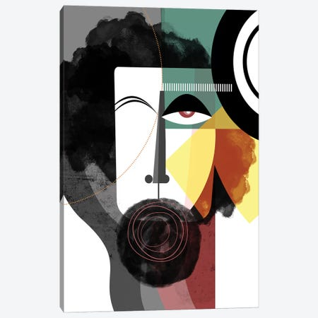 Bearded Man Canvas Print #SCI3} by Soul Curry Art & Illustrations Canvas Wall Art