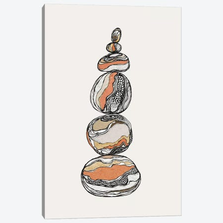 Stacked Rocks Canvas Print #SCI41} by Soul Curry Art & Illustrations Canvas Art