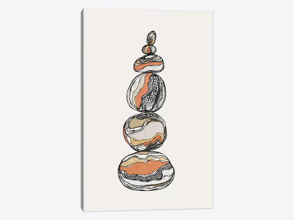 Stacked Rocks Canvas Wall Art By Soul Curry Art Illustrations