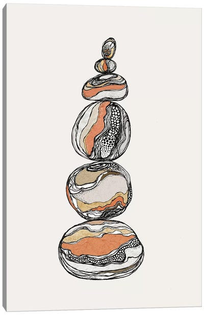 Stacked Rocks Canvas Art Print