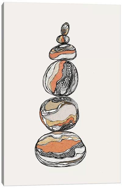 Stacked Rocks Canvas Art Print