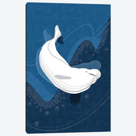 Beluga Canvas Print #SCI4} by Soul Curry Art & Illustrations Canvas Print