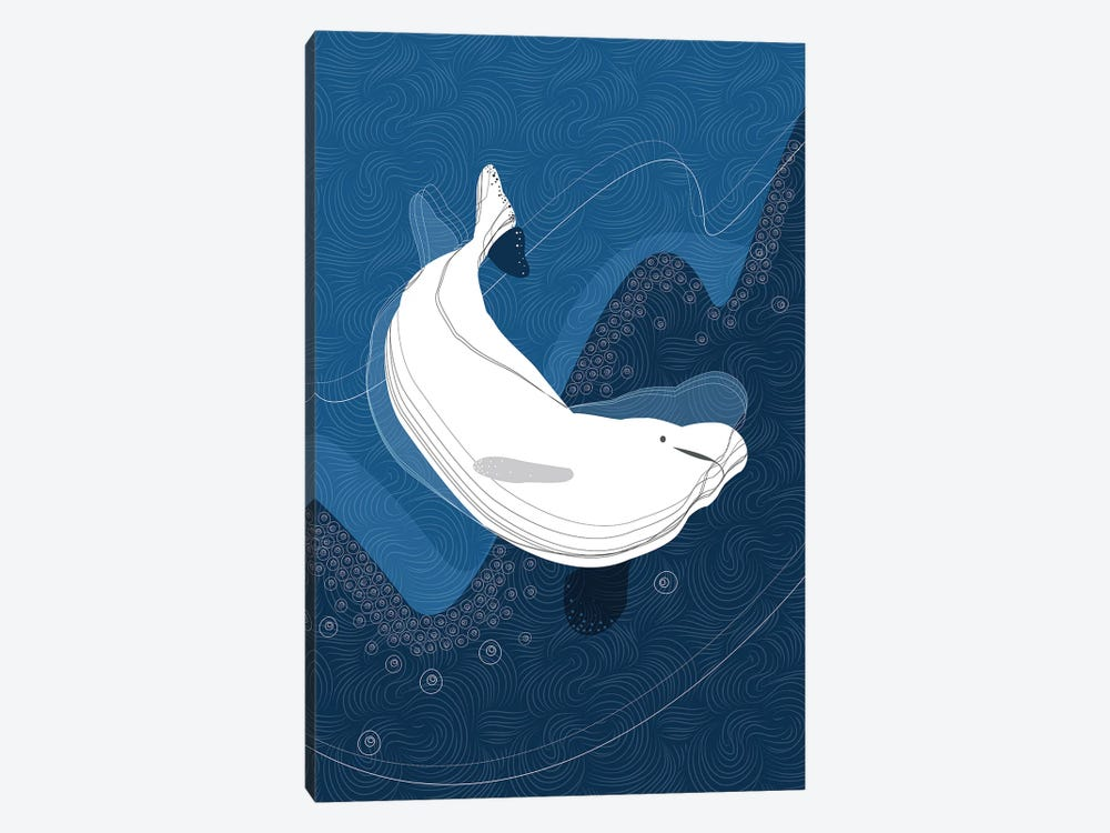 Beluga by Soul Curry Art & Illustrations 1-piece Canvas Art
