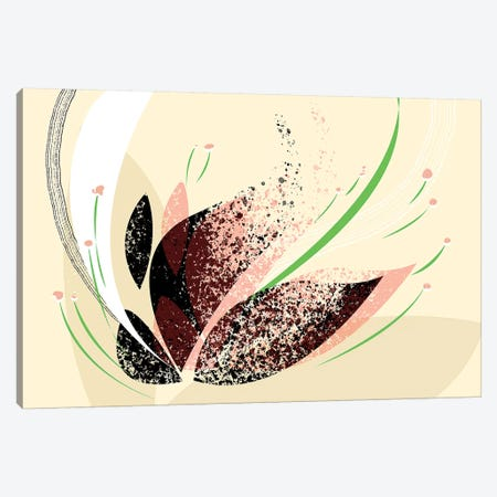 Wind Flower Canvas Print #SCI52} by Soul Curry Art & Illustrations Canvas Print