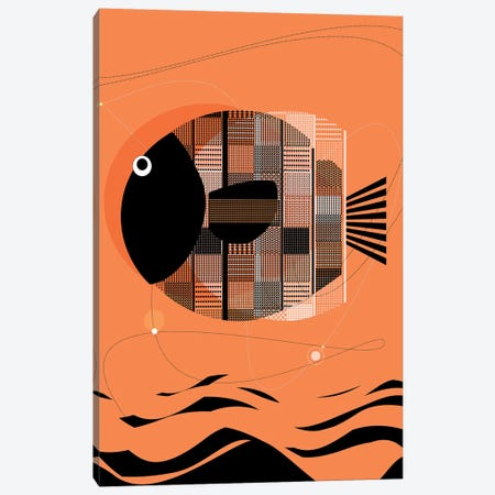 Wise Fish Canvas Print #SCI53} by Soul Curry Art & Illustrations Art Print