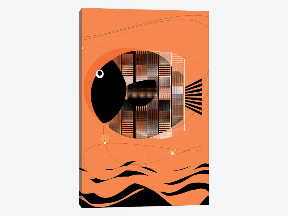 Wise Fish by Soul Curry Art & Illustrations 1-piece Canvas Art