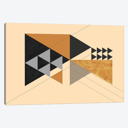 Wood Traingles Canvas Print #SCI54} by Soul Curry Art & Illustrations Canvas Artwork