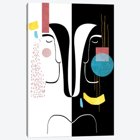 Mirror Image Canvas Print #SCI59} by Soul Curry Art & Illustrations Canvas Print