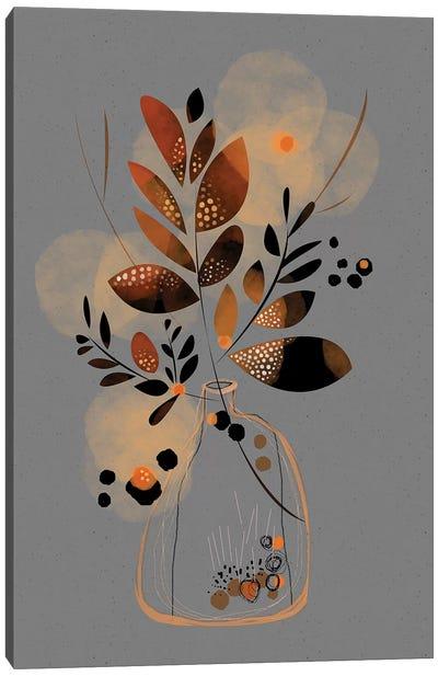Dry Floral Bouquet Canvas Art Print