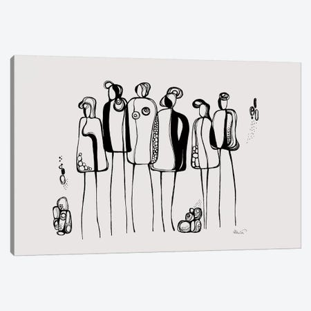 Pod People II Canvas Print #SCI73} by Soul Curry Art & Illustrations Art Print