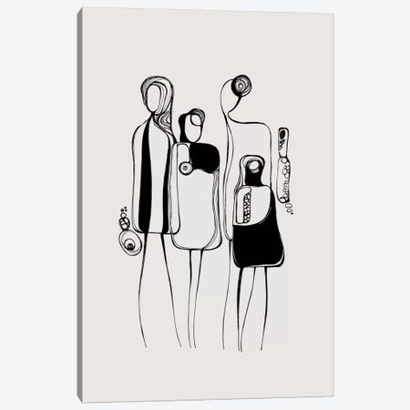 Pod People V Canvas Print #SCI75} by Soul Curry Art & Illustrations Canvas Wall Art