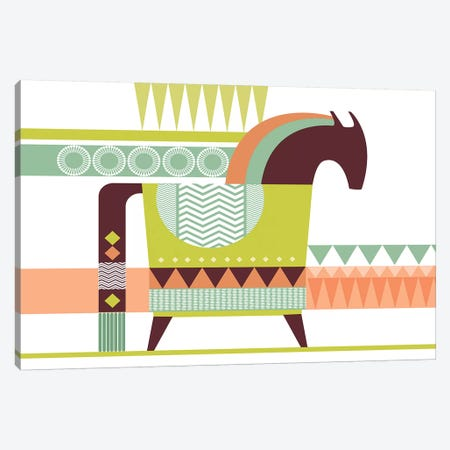Dala Horse Canvas Print #SCI9} by Soul Curry Art & Illustrations Canvas Wall Art