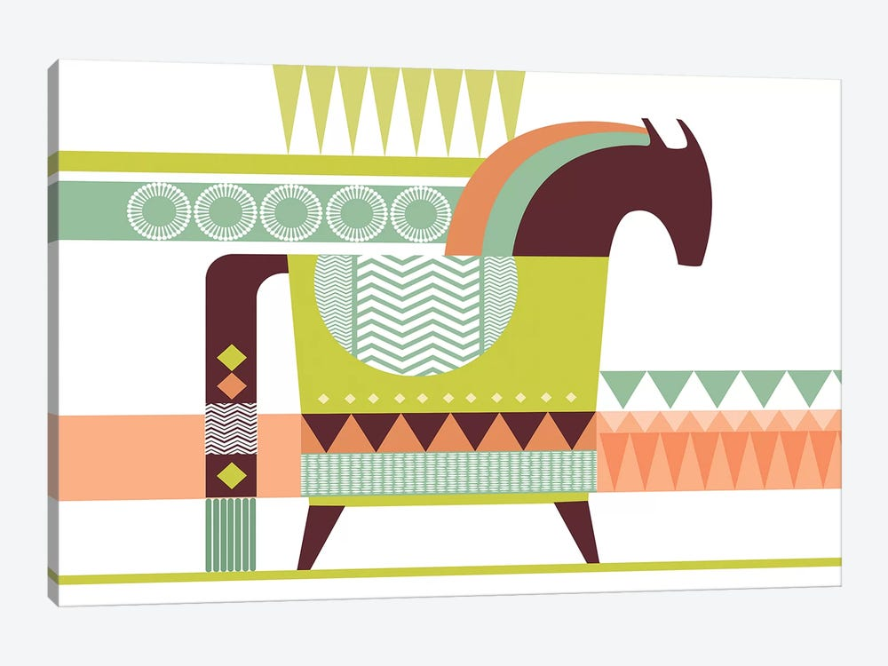 Dala Horse by Soul Curry Art & Illustrations 1-piece Art Print