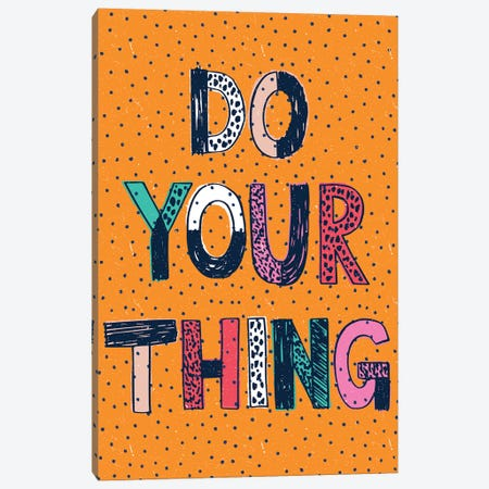 Just Go For It Canvas Print #SCL14} by Sarah Callis Canvas Art Print