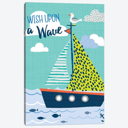 Let's Sail Away I Canvas Print #SCL15} by Sarah Callis Canvas Print