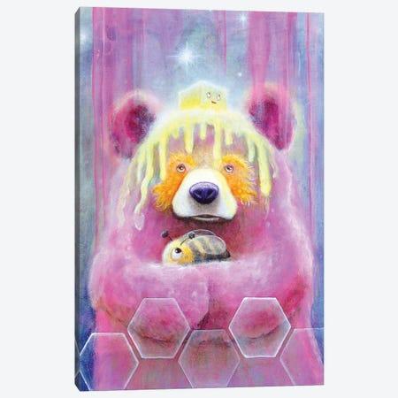 Honey Butter Bee Bear Canvas Print #SCM18} by Scott Mills Art Print