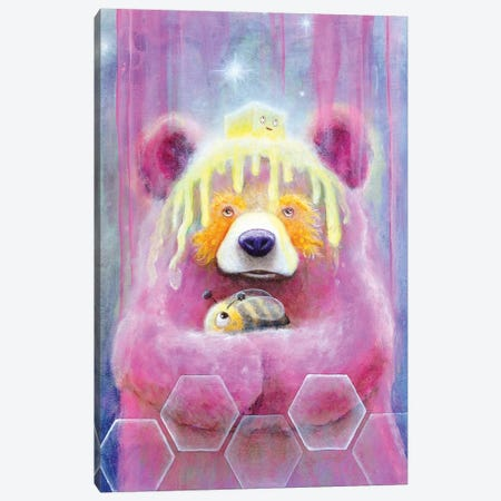 Honey Butter Bee Bear Canvas Print #SCM18} by Scott Mills Art Print