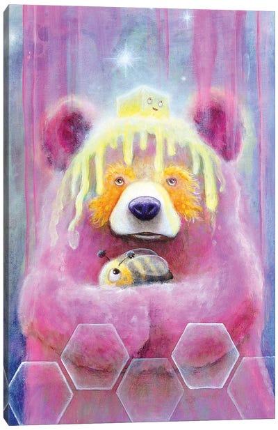 Honey Butter Bee Bear Canvas Art Print