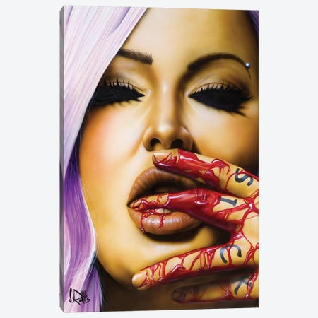 Sick To Death Canvas Print #SCR102} by Scott Rohlfs Canvas Art Print