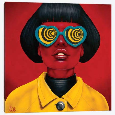 Future Funk Canvas Print #SCR107} by Scott Rohlfs Canvas Wall Art